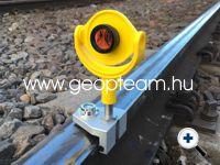 Vasúti sínperem-mérő adapter